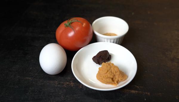 トマトの味噌汁具材